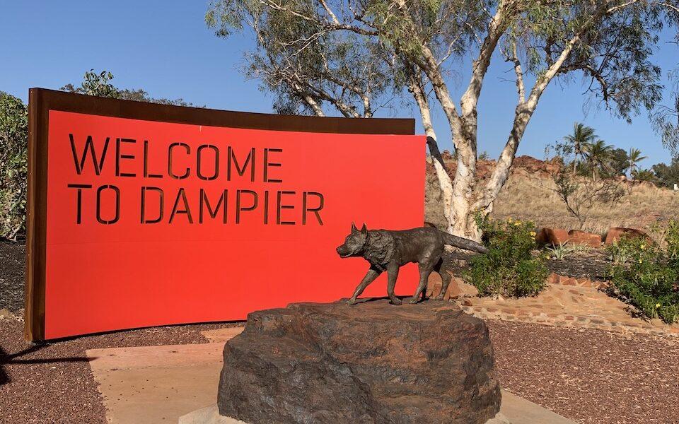 Welcome to Dampier Sign - Dampier, Western Australia