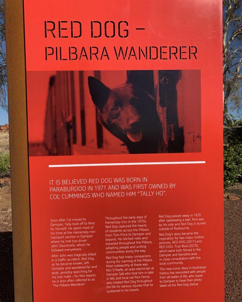 Red Dog Sign - Dampier, Western Australia
