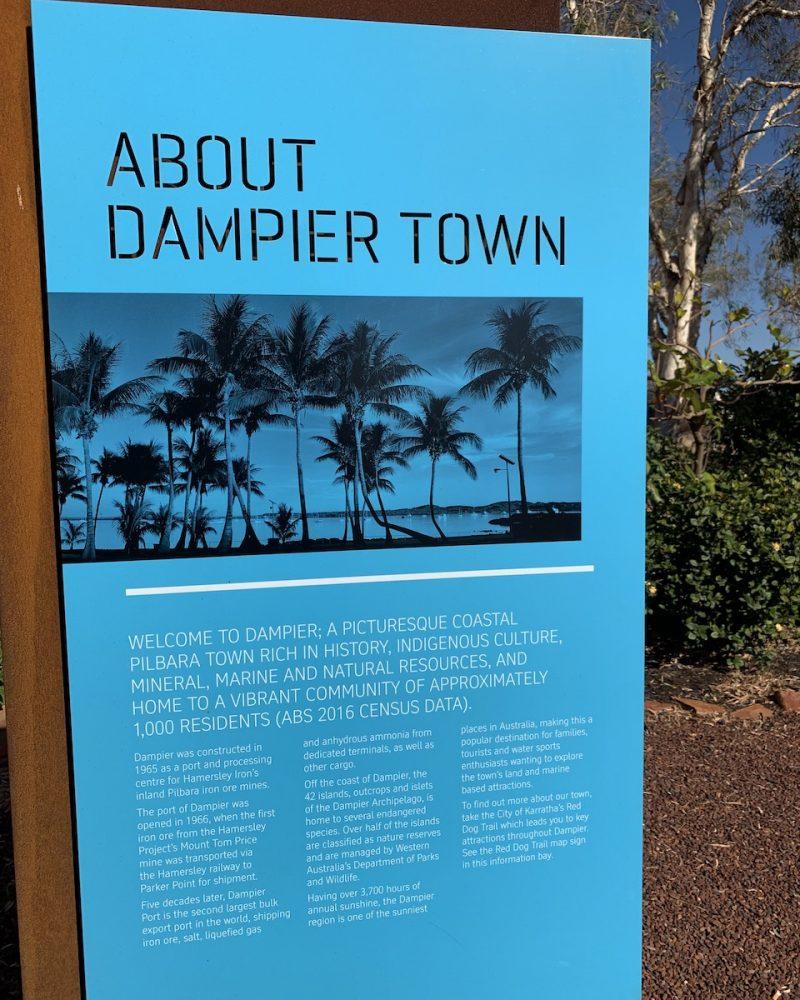 Dampier Town Sign - Dampier, Western Australia