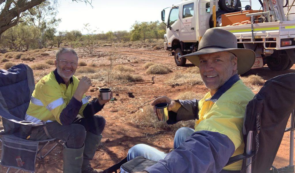 Martin and Stephen in Mardie, Western Australia